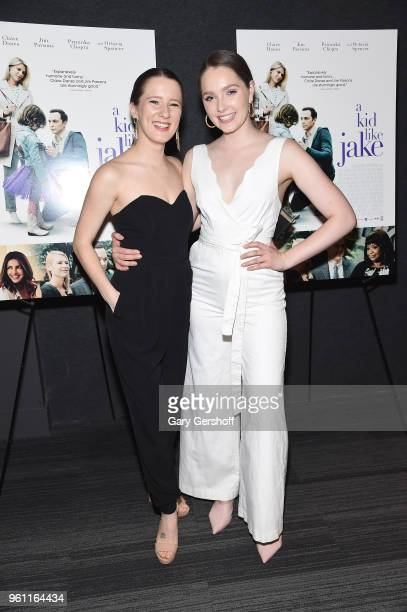 Actors Erin Kommor and Amy Forsyth attend 'A Kid Like Jake' New York premiere at The Landmark at 57 West on May 21 2018 in New York City
