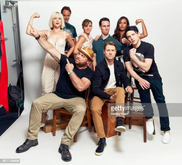 Actors Erin Richards Alexander Siddig Drew Powell Camren Bicondova Cory Michael Smith Ben McKenzie Jessica Lucas and Robin Taylor from FOX's 'Gotham'...