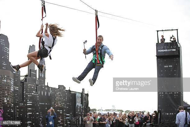 Actors Erin Richards and Ben McKenzie attend 'Gotham' Zip Line during ComicCon International on July 26 2014 in San Diego California