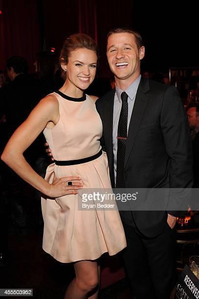 Actors Erin Richards and Ben McKenzie attend the GOTHAM Series Premiere event on September 15 2014 in New York City