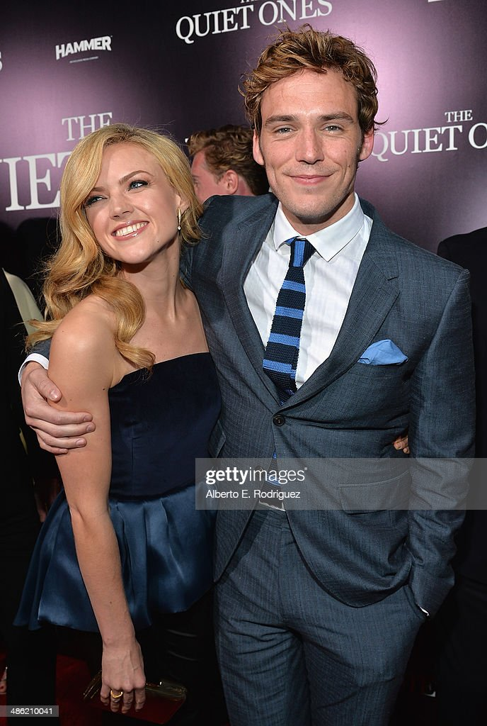 Actors Erin Richards and Sam Claflin arrives to the Los Angeles Premiere of Lionsgate Films' 'The Quiet Ones' at The Theatre At Ace Hotel on April 22, 2014 in Los Angeles, California.