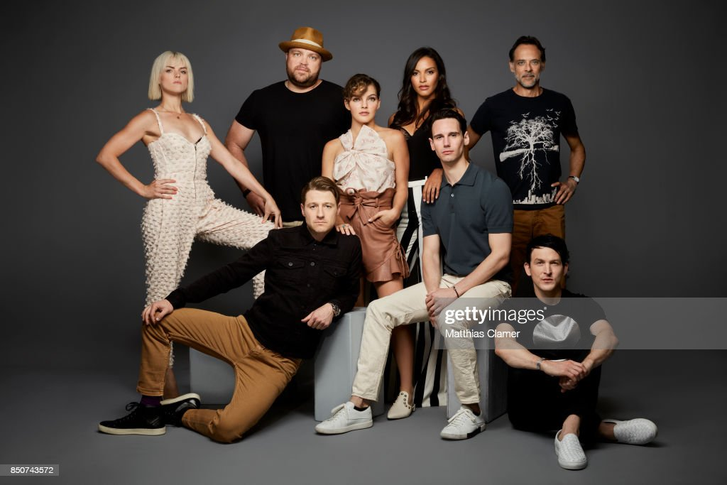 Actors (clockwise) Erin Richards, Drew Powell, Camren Bicondova, Jessica Lucas, Alexander Siddig, Robin Lord Taylor, Cory Michael Smith and Ben McKenzie from Gotham are photographed for Entertainment Weekly Magazine on July 22, 2017 at Comic Con in San Diego, California.