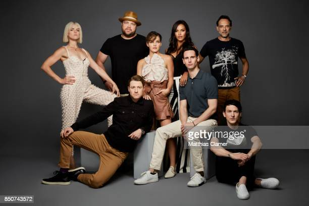 Actors Erin Richards Drew Powell Camren Bicondova Jessica Lucas Alexander Siddig Robin Lord Taylor Cory Michael Smith and Ben McKenzie from Gotham...