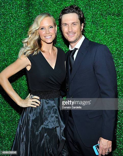 Actors Erinn Bartlett and Oliver Hudson attend the 2014 Baby2Baby Gala presented by Tiffany Co on November 8 2014 in Culver City California