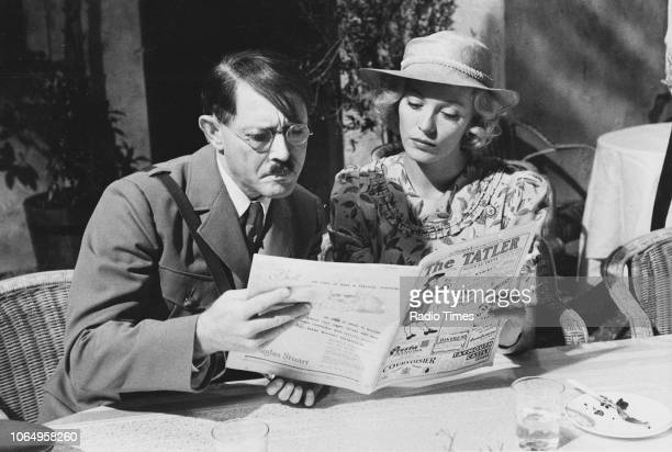 Actors Ernst Jacobi and LesleyAnne Down in a scene from episode 'Unity' of the drama series 'BBC2 Playhouse' August 18th 1980
