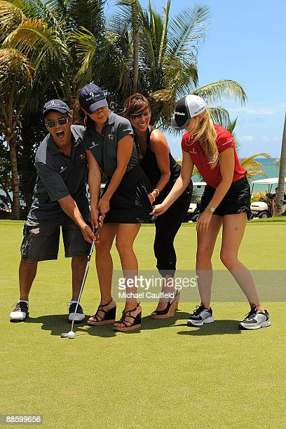 Actors Esai Morales Camille Guaty Roselyn Sanchez and Jennifer Morrison attend the Amaury Nolasco Friends Golf Classic at Bahia Beach on June 19 2009...