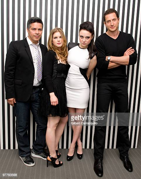 Actors Esai Morales Magda Apanowicz Alessandra Torresani and Sasha Roiz attend the SYFY 2010 Upfront Party at The Museum of Modern Art on March 16...