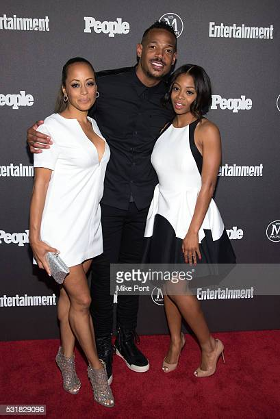 Actors Essence Atkins and Marlon Wayans attend the 2016 Entertainment Weekly People New York Upfront at Cedar Lake on May 16 2016 in New York New York