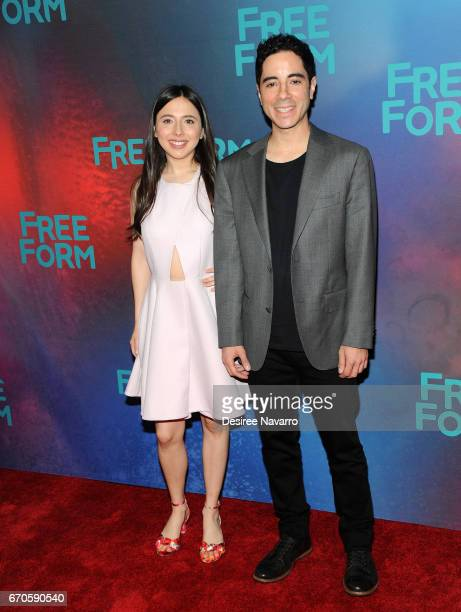 Actors Esther Povitsky and Benji Aflalo attend Freeform 2017 Upfront at Hudson Mercantile on April 19 2017 in New York City