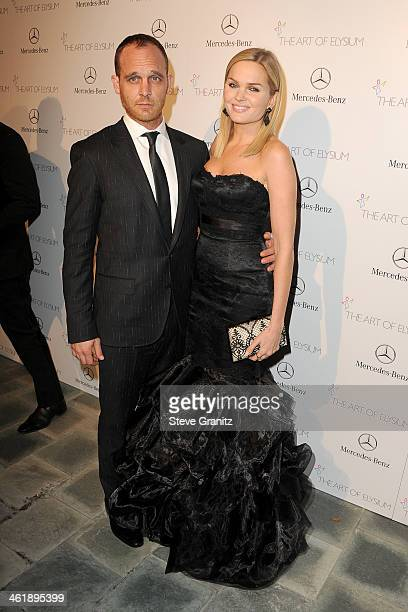 Actors Ethan Embry and Sunny Mabrey arrive at The Art of Elysium's 7th Annual HEAVEN Gala presented by MercedesBenz at Skirball Cultural Center on...