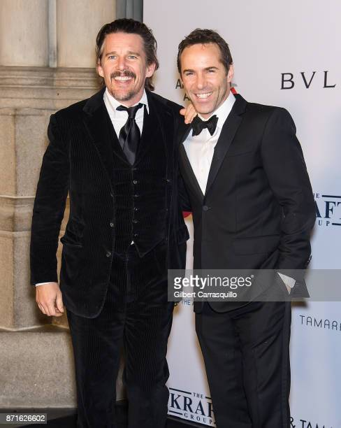 Actors Ethan Hawke and Alessandro Nivola attend Elton John AIDS Foundation Commemorates Its 25th Year And Honors Founder Sir Elton John During New...
