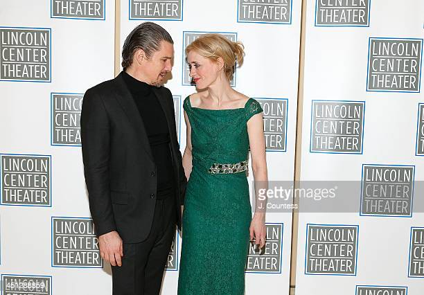 Actors Ethan Hawke and AnneMarie Duff attend the afterparty for the opening night of Shakespeare's Macbeth at Avery Fisher Hall Lincoln Center on...