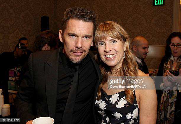 Actors Ethan Hawke and Julia Verdin attend the BAFTA Los Angeles Tea Party at The Four Seasons Hotel Los Angeles At Beverly Hills on January 10 2015...
