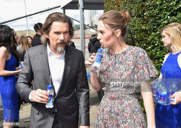 Actors Ethan Hawke and Maya Hawke with FIJI Water during the 33rd Annual Film Independent Spirit Awards on March 3 2018 in Santa Monica California