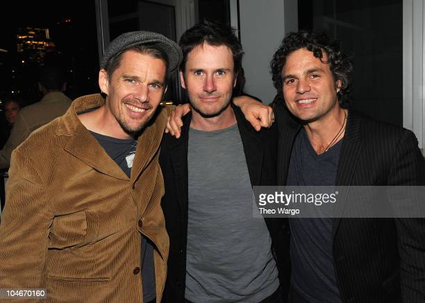 Actors Ethan Hawke Josh Hamilton and Mark Ruffalo attend the 2010 New Yorker Festival Party at Press Lounge at Ink48 on October 2 2010 in New York...
