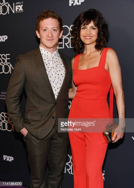 Actors Ethan Slater and Carla Gugino attends the New York Premiere for FX's Fosse/Verdon on April 08 2019 in New York City