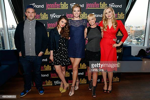 Actors Ethan Suplee Dylan Gelula Missi Pyle Jaime Pressly and Nora Kirkpatrickattend TV Land's Jennifer Falls premiere party at Jimmy At The James...