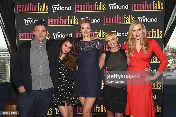 Actors Ethan Suplee Dylan Gelula Missi Pyle Jaime Pressly and Nora Kirkpatrick attend Jennifer Falls series premiere on June 2 2014 in New York City
