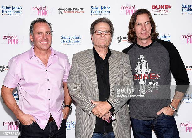 Actors Ethan Wayne and Patrick Wayne and Chris Radomski attend Power of Pink 2014 Benefiting the Cancer Prevention Program at Saint John's Health...