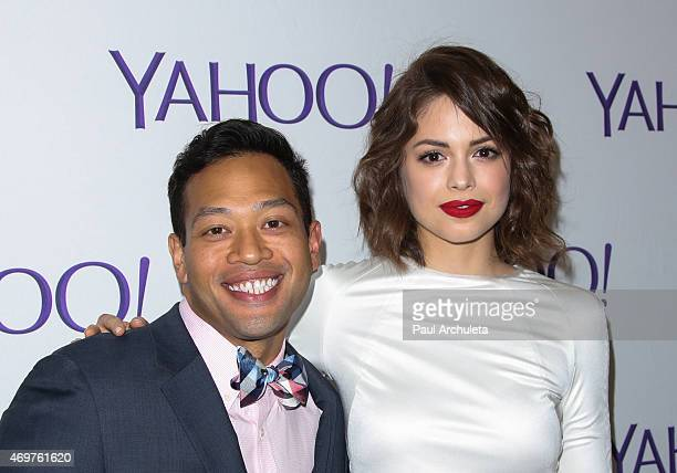 Actors Eugene Cordero and Conor Leslie attend the launch party for Paul Feig's new show 'Other Space' at The London on April 14 2015 in West...