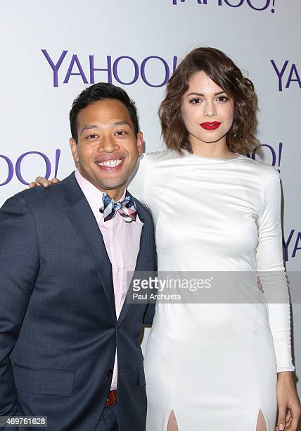 """Actors Eugene Cordero and Conor Leslie attend the launch party for Paul Feig's new show """"Other Space"""" at The London on April 14, 2015 in West..."""
