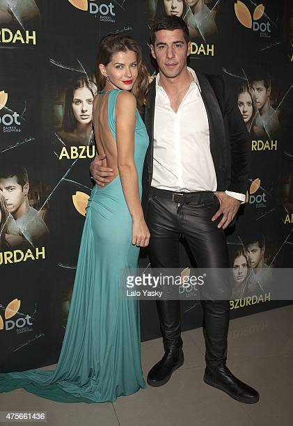 Actors Eugenia 'La China' Suarez and Esteban Lamothe attend the premiere of Abzurdah at the Hoyts Cinemas on June 2 2015 in Buenos Aires Argentina