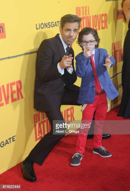 Actors Eugenio Derbez and Robyn Lively arrive for the Premiere Of Pantelion Films' 'How To Be A Latin Lover' held at ArcLight Cinemas Cinerama Dome...