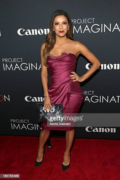 Actors Eva Longoria and Amaury Nolasco attend the Premiere Of Canon's Project Imaginat10n Film Festival at Alice Tully Hall on October 24 2013 in New...