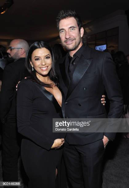 Actors Eva Longoria and Dylan McDermott attend the 2018 InStyle and Warner Bros 75th Annual Golden Globe Awards PostParty at The Beverly Hilton Hotel...