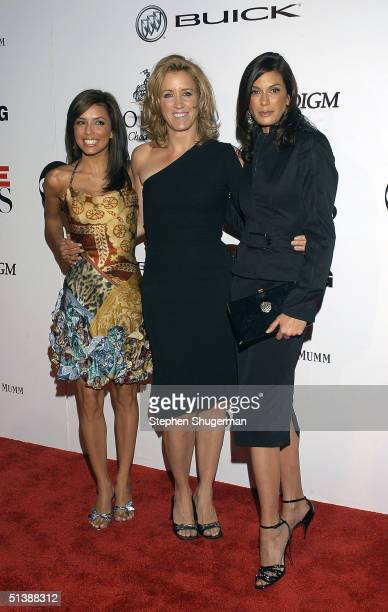 """Actors Eva Longoria, Felicity Huffman and Teri Hatcher attend the """"Desperate Housewives"""" premiere party at Barney's New York October 3, 2004 in..."""