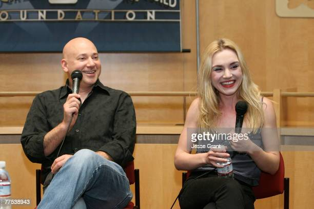 Actors Evan Handler and Rachel Miner at the SAG Foundation Screening of Californication Episode 112 The Last Waltz at the James Cagney Board Room on...