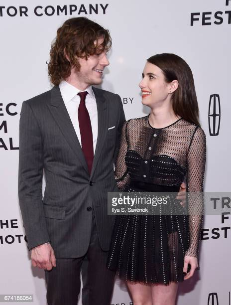 Actors Evan Peters and Emma Roberts attend the Dabka Premiere during the 2017 Tribeca Film Festival at SVA Theater on April 27 2017 in New York City