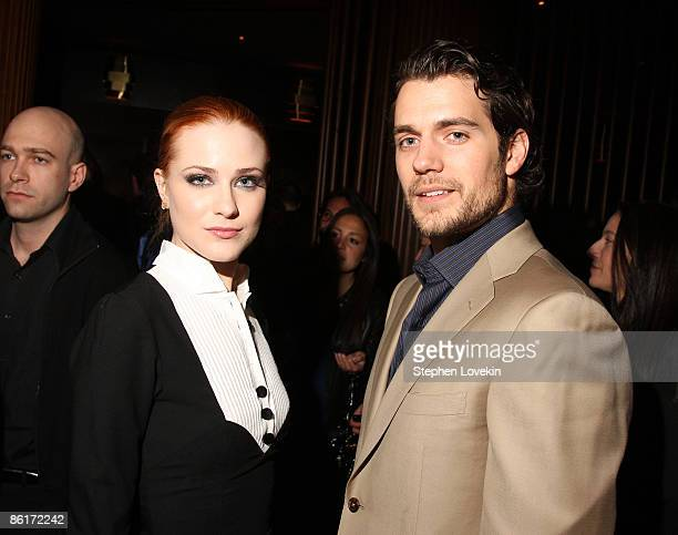 Actors Evan Rachel Wood and Henry Cavill attend the after party for Whatever Works during the 2009 Tribeca Film Festival at Royalton Hotel on April...