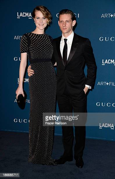 Actors Evan Rachel Wood and Jamie Bell arrives at the LACMA 2013 Art Film Gala on November 2 2013 in Los Angeles California