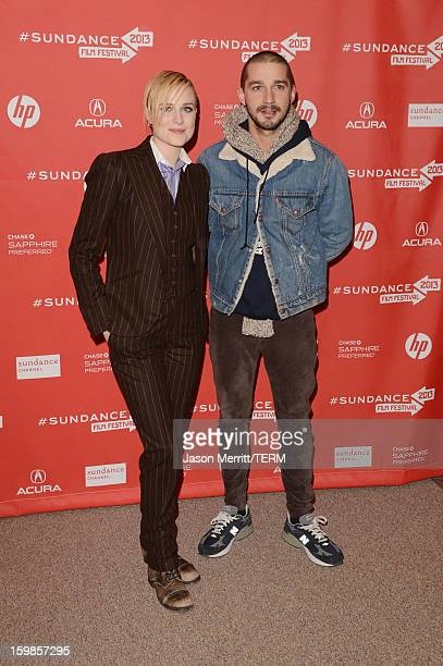 Actors Evan Rachel Wood and Shia LeBouf attend 'The Necessary Death Of Charlie Countryman' premiere at Eccles Center Theatre during the 2013 Sundance...
