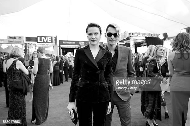 Actors Evan Rachel Wood and Zach Villa attend The 23rd Annual Screen Actors Guild Awards at The Shrine Auditorium on January 29 2017 in Los Angeles...