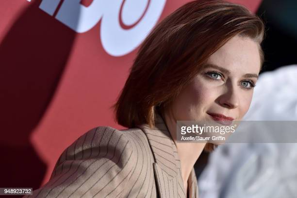 Actors Evan Rachel Wood arrives at the Los Angeles premiere of HBO's 'Westworld' season 2 at The Cinerama Dome on April 16 2018 in Los Angeles...