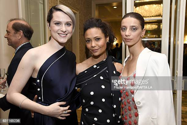 Actors Evan Rachel Wood Thandie Newton and Angela Sarafyan attend The BAFTA Tea Party at Four Seasons Hotel Los Angeles at Beverly Hills on January 7...