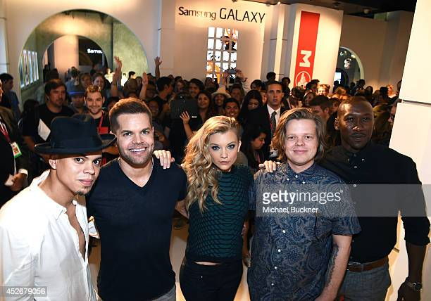 Actors Evan Ross Wes Chatham Natalie Dormer Elden Henson and Mahershala Ali greet fans at the Capitol Gallery located in the Samsung Galaxy...