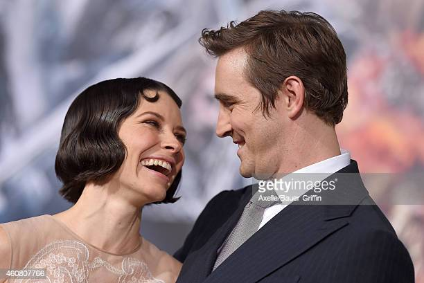 Actors Evangeline Lilly and Lee Pace arrive at the Los Angeles premiere of 'The Hobbit The Battle Of The Five Armies' at Dolby Theatre on December 9...