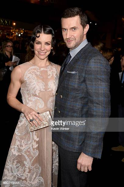 Actors Evangeline Lilly and Richard Armitage attend the premiere of New Line Cinema MGM Pictures and Warner Bros Pictures' The Hobbit The Battle of...