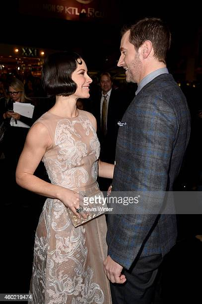 """Actors Evangeline Lilly and Richard Armitage attend the premiere of New Line Cinema, MGM Pictures and Warner Bros. Pictures' """"The Hobbit: The Battle..."""