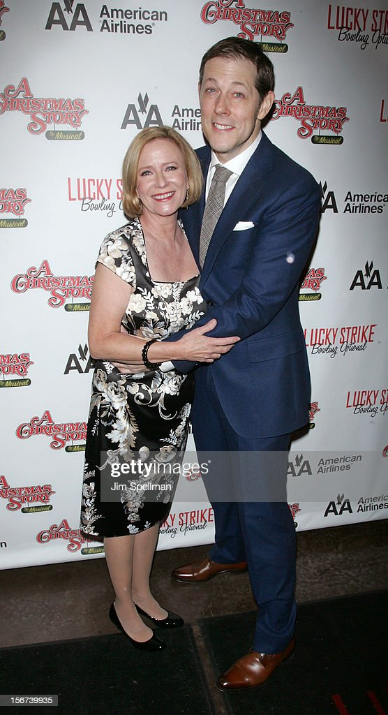 Actors Eve Plumb and John Bolton attend 'A Christmas Story: The Musical' Broadway opening night after party on November 19, 2012 in New York City.