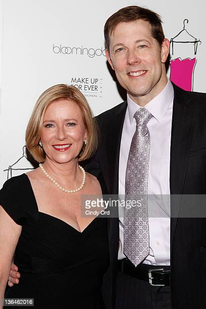 Actors Eve Plumb and John Bolton attend the Love Loss And What I Wore new cast member celebration at B Smith's Restaurant on January 5 2012 in New...