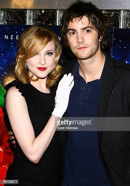 Actors Even Rachel Wood and Jim Sturgess attend a special screening of 'Across The Universe' at Chelsea West Theater on September 13 2007 in New York...
