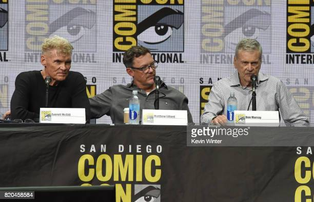 Actors Everett McGill Matthew Lillard and Don Murray speak onstage at ComicCon International 2017 Twin Peaks A Damn Good Panel at San Diego...