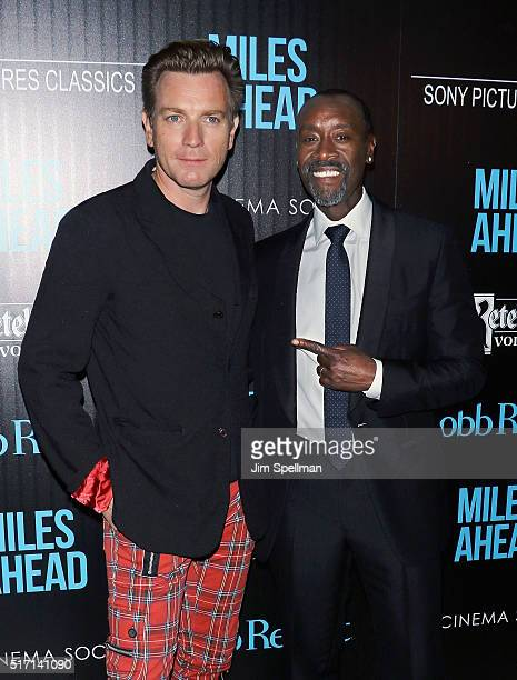 Actors Ewan McGregor and Don Cheadle attend The Cinema Society with Ketel One and Robb Report host a screening of Sony Pictures Classics' 'Miles...