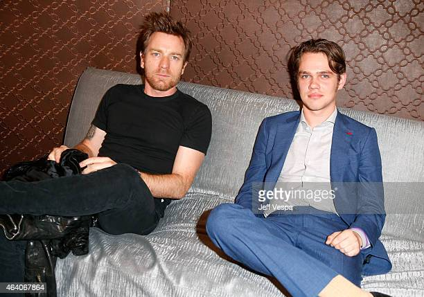 Actors Ewan McGregor and Ellar Coltrane attend the 2015 Film Independent Spirit Awards at Santa Monica Beach on February 21 2015 in Santa Monica...