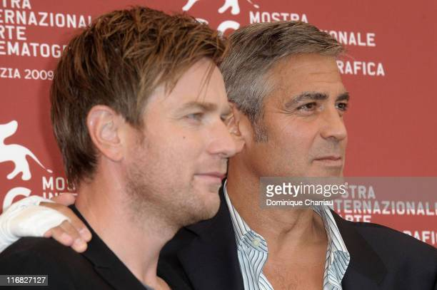 Actors Ewan McGregor and George Clooney attend the The Men Who Stare At Goats photocall at the Palazzo del Casino during the 66th Venice Film...