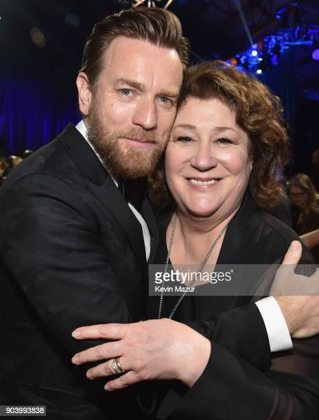 Actors Ewan McGregor and Margo Martindale attend The 23rd Annual Critics' Choice Awards at Barker Hangar on January 11 2018 in Santa Monica California